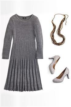 Pointelle Trim Dress | Chadwicks
