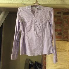 Button down Purple and white button down pullover. Forever 21 Tops Button Down Shirts