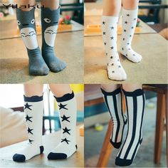 1e1d56312 Kids Socks 2015 Spring Cotton Knee Cute Cartoon Creative Totoro Socks New  Print Leg Warmer Toddler Socks years 19 Color - FASHION BookFace - Leading  Global ...