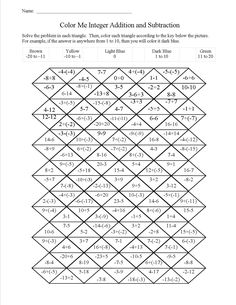 math worksheet : 1000 ideas about subtracting integers on pinterest  integers  : Addition And Subtraction Of Integers Worksheets