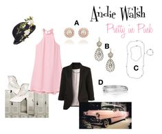 Pretty in Pink by trendytimelessjewelry on Polyvore featuring MANGO, WithChic, Funtasma, Chloe + Isabel, Overland Sheepskin Co. and Forever 21