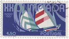 vintage Portuguese stamp