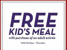 #Olive #Garden: #Free #Kid's #Meal with Purchase of Adult Entree!