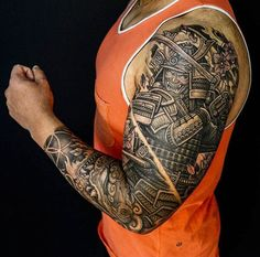 Samurai, Shishi, Sakura sleeve by Winson (@wt_tattoo) done at Chronic Ink Tattoo - Toronto, Canada