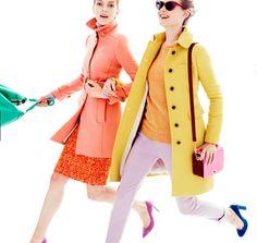 rainbow coloured coats