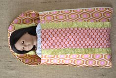 blueSusan makes: Dolly Sleeping Bag and a little Tutorial too!