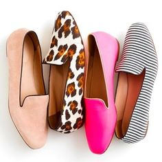 Would love a pair of smoking slippers in a bright pattern or color, like the animal print or pink. Would also love cobalt blue!
