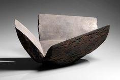 Timeless elegance in Japanese art: Joan B. Mirviss LTD celebrates its 40th anniversary. Akiyama Yo, Untitled MV-155, 2015. Unglazed stoneware with interior silver coating