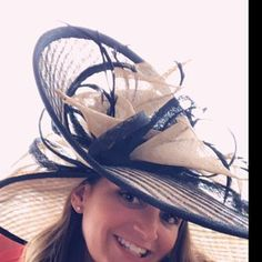 4a17f8be541 Formal black and peach hat.Kentucky Derby hat. Royal ascot hat. Derby hat.  Black hat. Formal hat for races