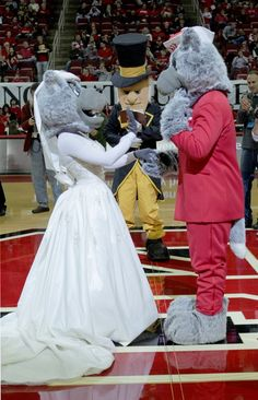 Mr. and Ms. Wuf renew their vows with the Demon Deacon as the minister. I LOVE THE ACC