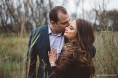 Calli and Michael's engagement photo session in autumn in the long grass - Jeanette Verster Photography