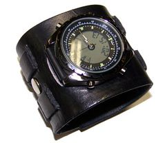 Everyday Cool Leather Watch Cuff 031711 by EasternOregonLeather, $35.79
