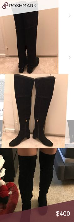 1198a1759f66af Tory Burch Laila Boots Brand new fresh from the box knee high velvet boots Tory  Burch