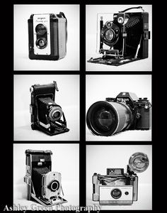 Photo Collage of Vintage Cameras by AshleyGreenPhoto on Etsy