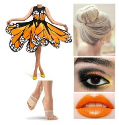 """""""butterfly scene"""" by the-wanted-potato ❤ liked on Polyvore featuring Tieks"""