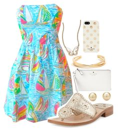 """""""⛵️smooth sailing⛵️"""" by marinampetrillo ❤ liked on Polyvore featuring Kate Spade and Jack Rogers"""