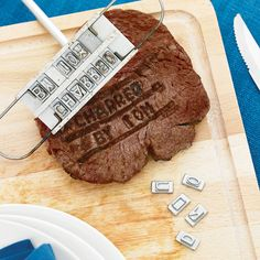 This would so be made by Ron. And say something awesome. Steak Branding Iron
