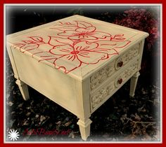 ART IS BEAUTY: Another Dogwood Makeover for an old table