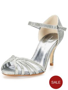 Shoe Box Judy Mid Heel Sparkle Sandals | very.co.uk