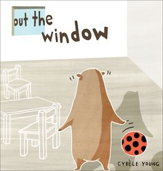 """Out the Window"" by Cybele Young - It's frustrating when you accidentally throw your ball out the window. But undeterred, the main character persevered until he discovered that outside, an unusual parade was underway.  This leporello-style board book is designed so that the first half of the story focuses on the attempt to see what is happening out the window, while the second half, revealed only when the book is flipped over, shows a wonderfully inventive parade."