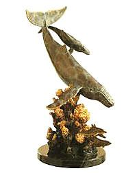 SPI Home Dolphin /& Undersea Friends Sculpture Brass Marble Ocean Sealife Statue