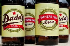 PRINTABLE Fathers Day Retro Beer Ale Drink Bottle Labels gift lime green. $4.75, via Etsy.