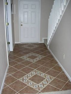 If Its Not Baroque How I Painted A Ceramic Tile Entry Floor - Ceramic tile scraps