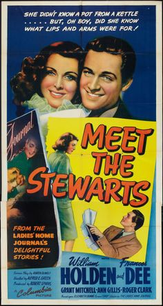 """Meet the Stewarts"" (1942) starring William Holden & Frances Dee on Antenna TV -- 1/28/2013 (Mon) at 9a ET & 2/3/2013 (Sun) at 6:30a ET."