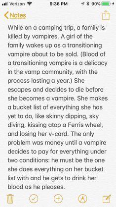 Writing prompt: vampire, bucket list, transitioning, Love