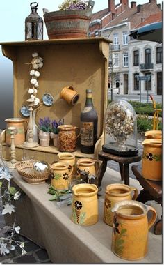 Country French vignette at the antique market