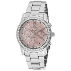 Invicta Women's Angel Chronograph Pink Mother Of Pearl Stainless Steel $118