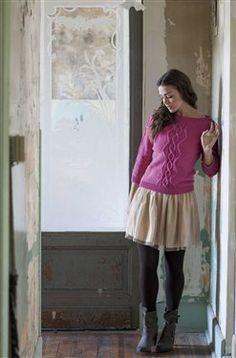 Sylvia's Pullover - Knitting Daily