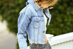 Adios Summer, See You Never | Dear Fall | Distressed Jean Jacket Style