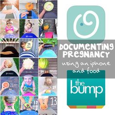 Documenting pregnancy using an iphone and food! Such a cute idea.