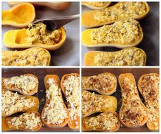 Twice-Baked Butternut Squash with Quinoa, Pecans, and Parmesan. This looks crazy good!