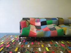 Shared Space Patchwork Beanbag Sofa by Bertjan Pot   http://www.apartmenttherapy.com/shared-space-patchwork-sofa-by-53984#