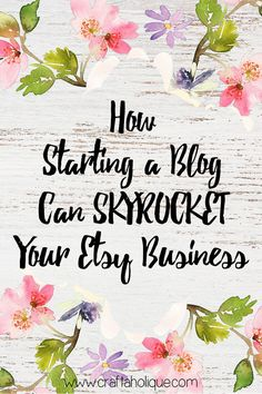 Find out exactly why it's a no brainer to have a WordPress blog set up alongside your Etsy shop - and how to set one up really quickly for very little cost!