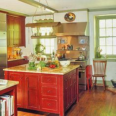 This Is The Red Color I Want For My Cabinets Kitchen Doors Old