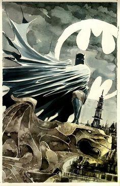Cool Batman watercolor...