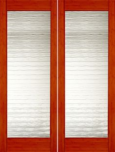 Buy Interior Double Door Interior Bamboo Contemporary Small Wave Glass  Double Door By AAW With 1 Year Limited Manufacturer Warranty Warranty.