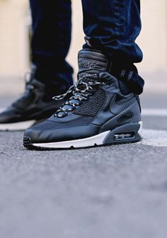 "Nike Air Max 90 Sneakerboot ""Black/Magnet Grey: Come thru Fall! Nike Shoes Cheap, Nike Free Shoes, Nike Shoes Outlet, Cheap Nike, Nike Air Max, Me Too Shoes, Men's Shoes, Shoe Boots, Souliers Nike"