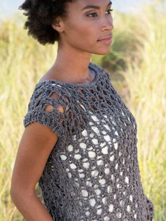 8aec342b90893b Beleza Easy Lace Tee Knitting Pattern Beginner Knitting Patterns