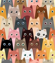 Find Cats Cartoon Vector Seamless Wallpaper stock images in HD and millions of other royalty-free stock photos, illustrations and vectors in the Shutterstock collection. Wallpaper Gatos, Switch Plate Covers, Switch Plates, Cat Decor, Pattern Illustration, Cat Art, Cute Wallpapers, Framed Art Prints, Cartoon