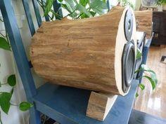 Tree log speakers