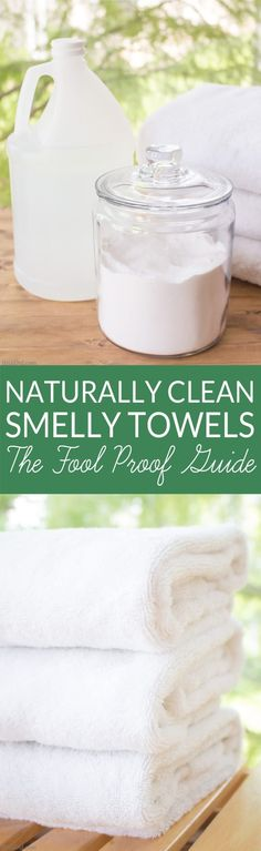 Eliminate smelly towels - Learn how to naturally eliminate laundry room bacteria and keep towels fresh with this green cleaning tutorial.