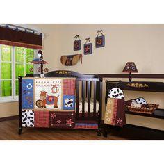 Geenny Boutique Horse Cowboy 12 Piece Crib Bedding Set