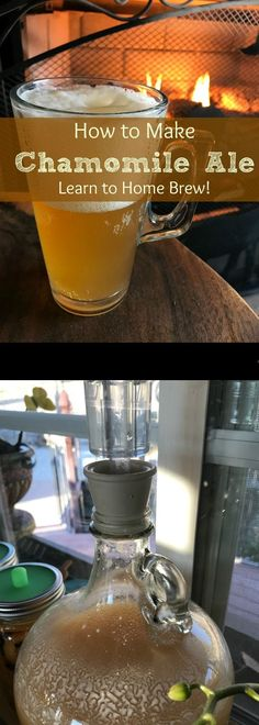 Recipes for Chamomile Ale have been around for hundreds of years! Learn how to make your own herbal Chamomile Home Brewed Beer. #homebrewing