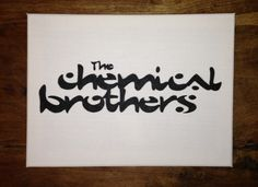 The Chemical Brothers Band Logo Canvas Art hand painted for music lovers £10.95