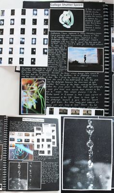 AL Photography, A3 Black Sketchbook, Shutter Speed, CSWK 'Structures', Thomas…