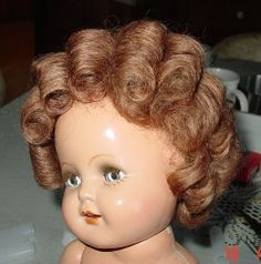 This Old Doll Hospital - Washing and Setting a Composition Doll's Mohair Wig